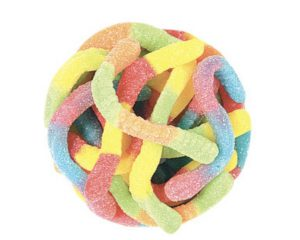 Sour worms candy