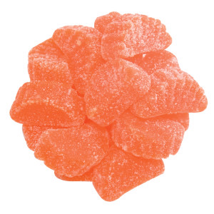 Orange gummy slices